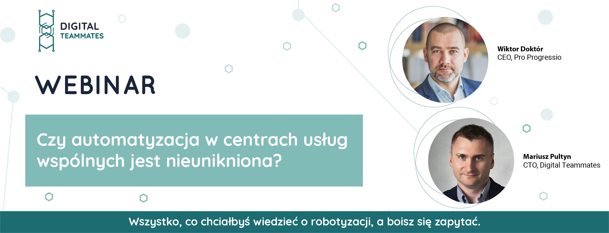 Czy automatyzacja w Centrach Usług Wspólnych jest nieunikniona?