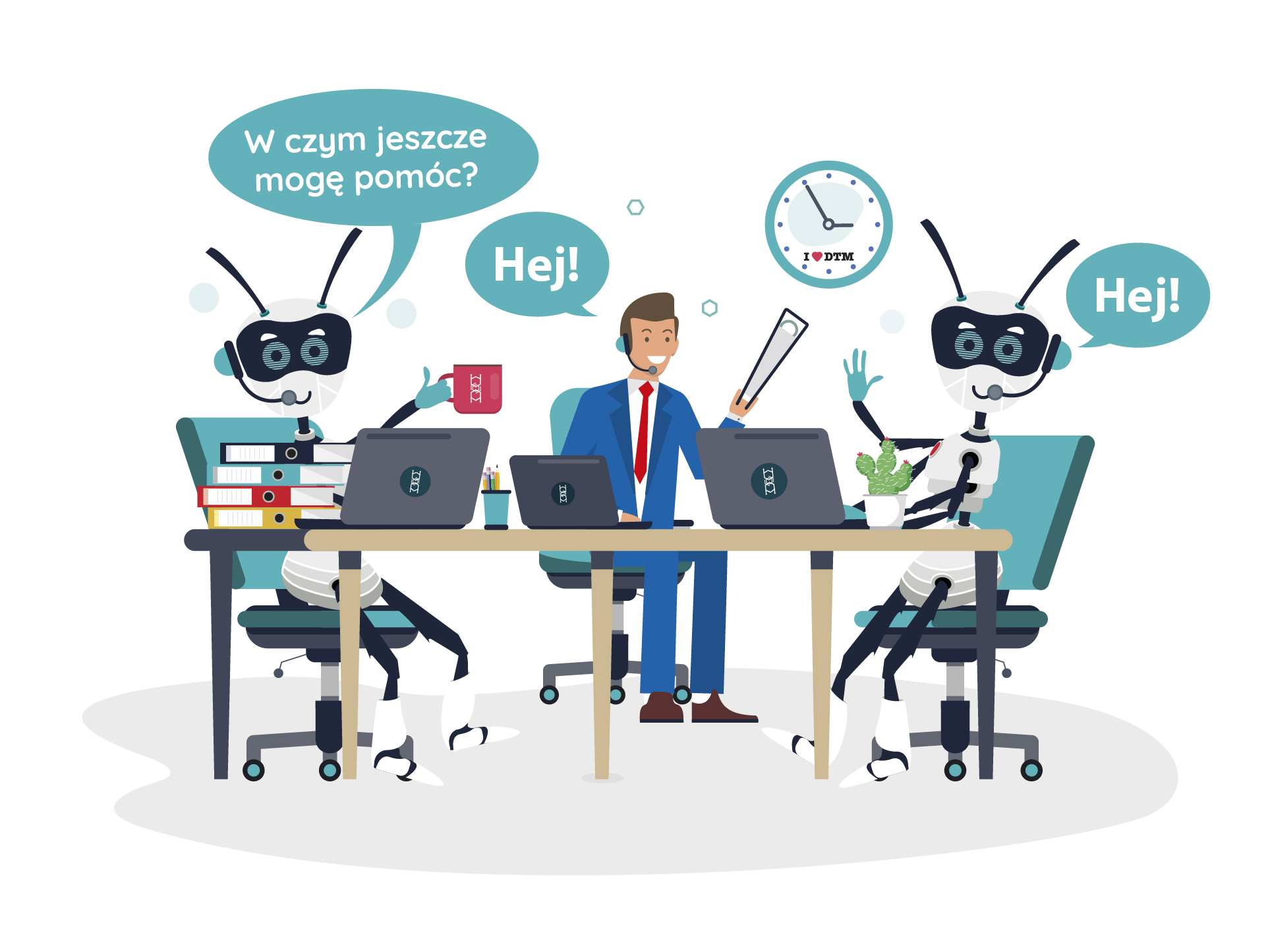 Cyfrowi Pracownicy w obsłudze Klienta Obrazek